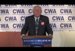 CWA Endorses Senator Bernie Sanders for President
